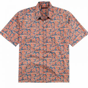 "Men's Tori Richard® Cotton Lawn Short Sleeve Shirt, Take It Easy #6365 Coral ""USE COUPON TR1 WHEN YOU CHECK OUT"""