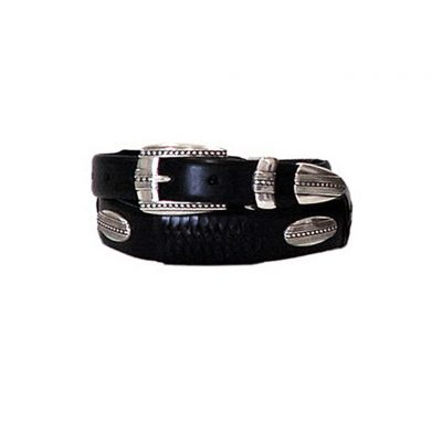 Eastwood Taper Black Leather Men's Brighton Belt #98053