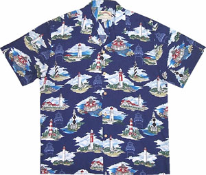 Paradise Found-9 Lighthouses on One Shirt