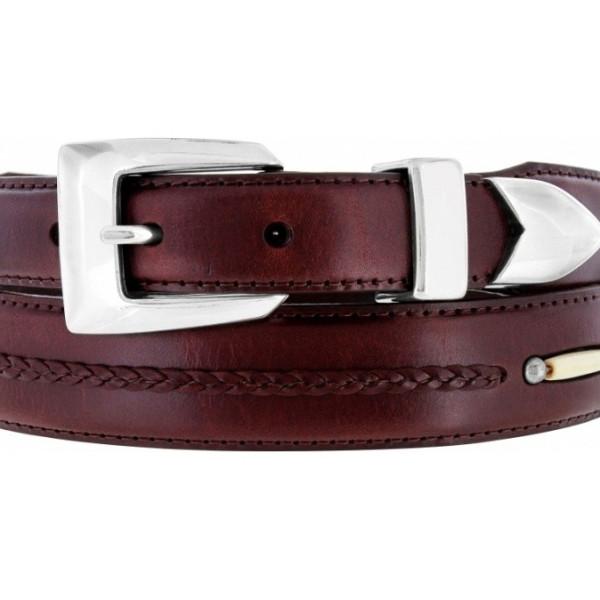 toronto taper brown leather men s brighton belt 10707