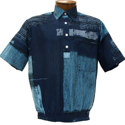 Men's D'Accord Short Sleeve Banded Bottom Shirt 6371 Blue
