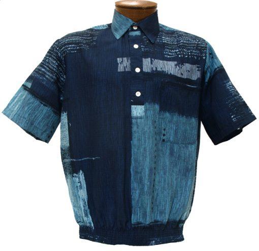 Men's D'Accord Short Sleeve Banded Bottom Shirt 6371 Blue