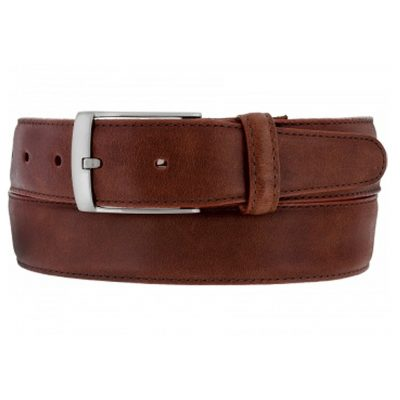Men's Brighton Salerno Leather Belt #M11425 Brown