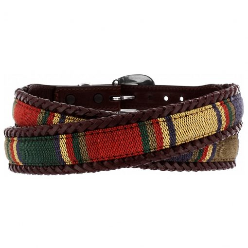 Men's Brighton® Santos Fabric Leather Laced Belt #67506