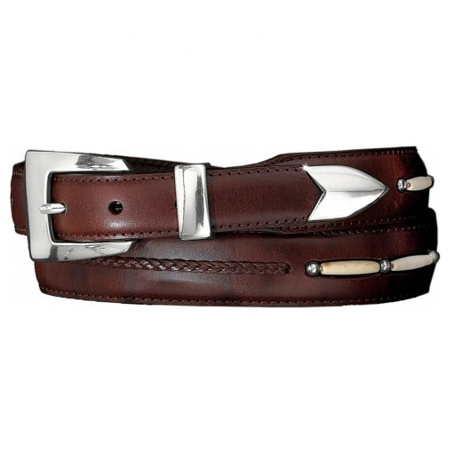 Men's Brighton Toronto Taper Leather Belt Brown #10707