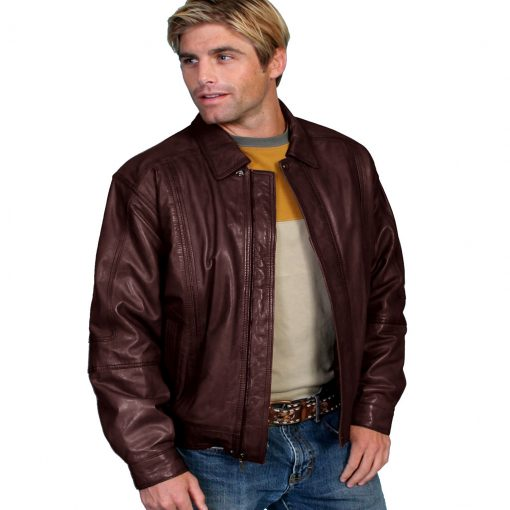 Men's Scully® Premium Lambskin Leather Jacket #978 Chocolate