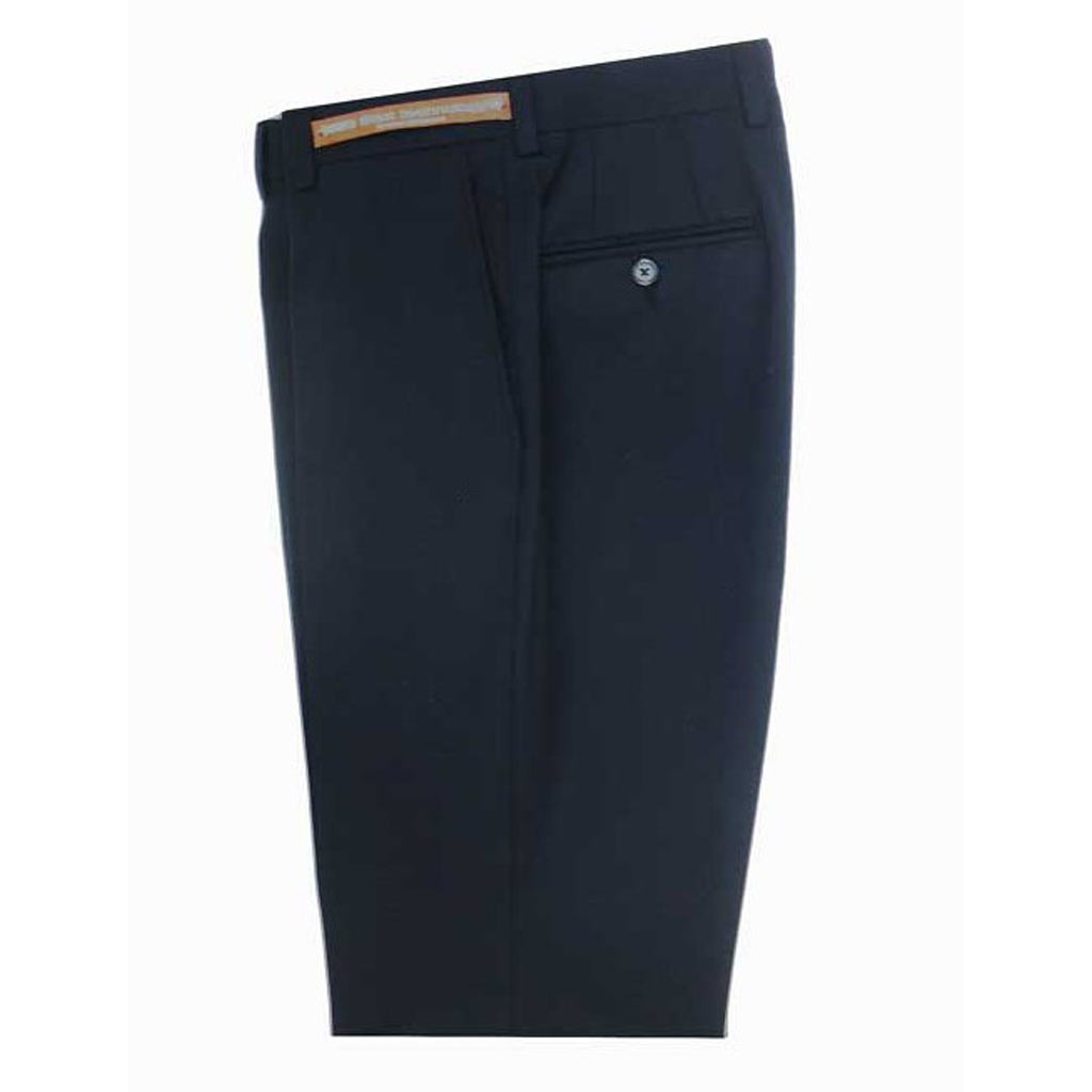 Men's Jack Victor Riviera Traveler Wool Blend Dress Pants Navy