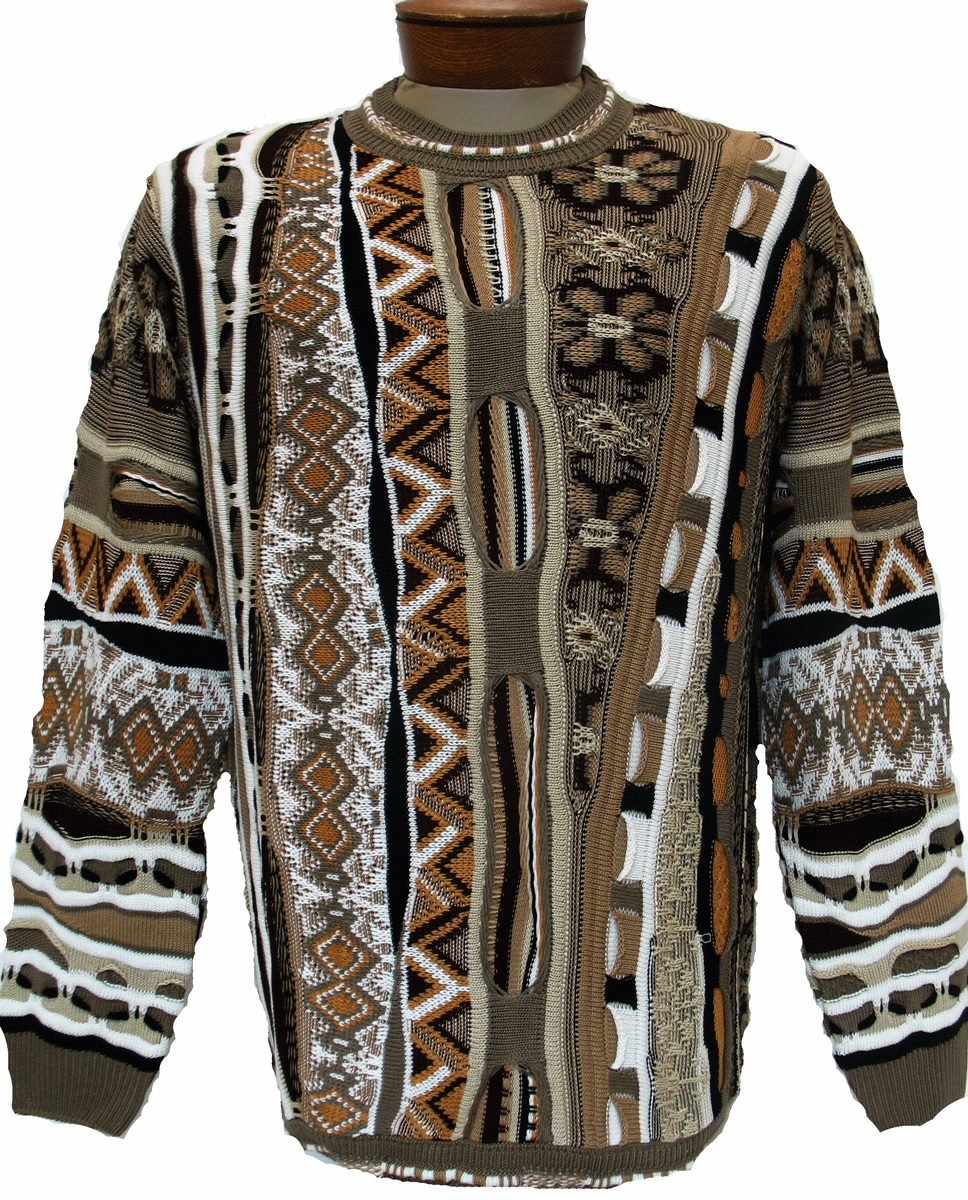 Men's Tundra, Coogi Look Sweater by Steven Land #112 Brown