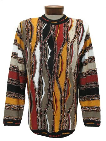 Men's Tundra, Coogi Look Sweater by Steven Land #116 Rust