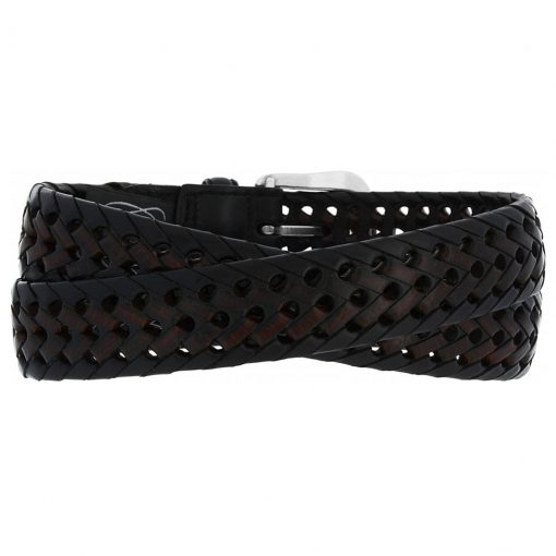 Men's Brighton Burma Laced Leather Belt #94603 Black/Brown