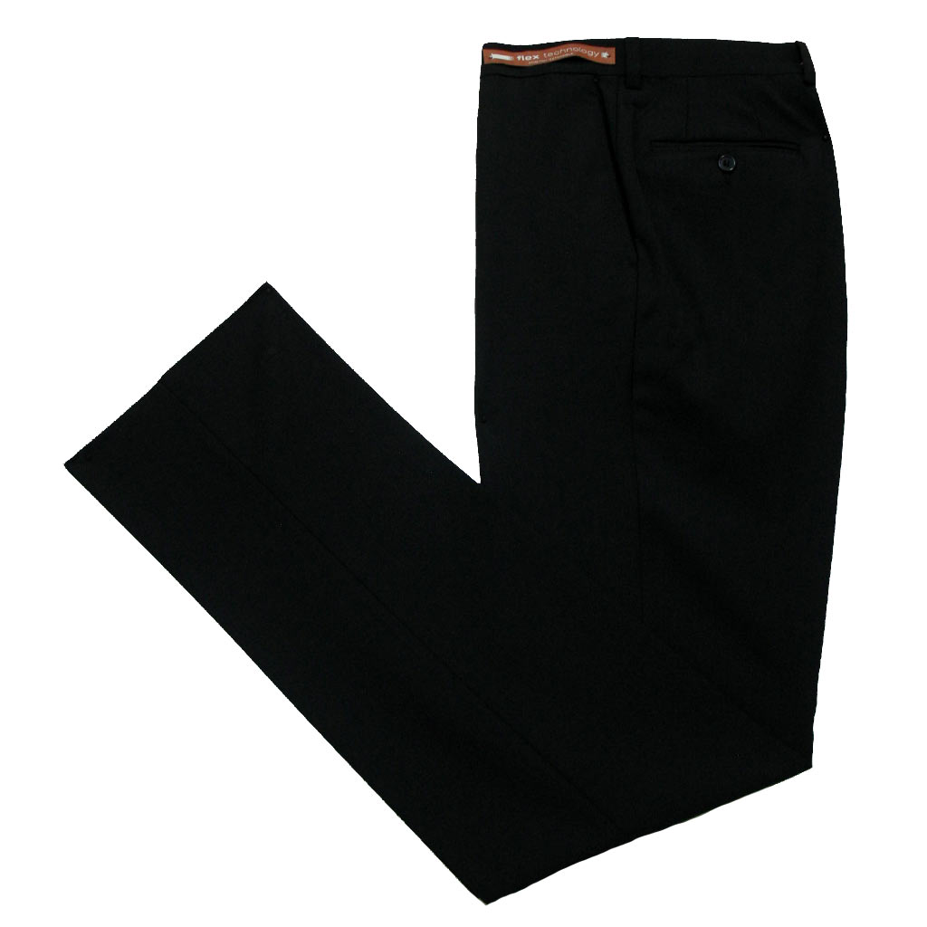 Men's Jack Victor Riviera Traveler Wool Blend Dress Pants Black