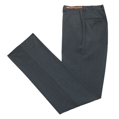 Men's Jack Victor Riviera Traveler Wool Blend Dress Pants Grey