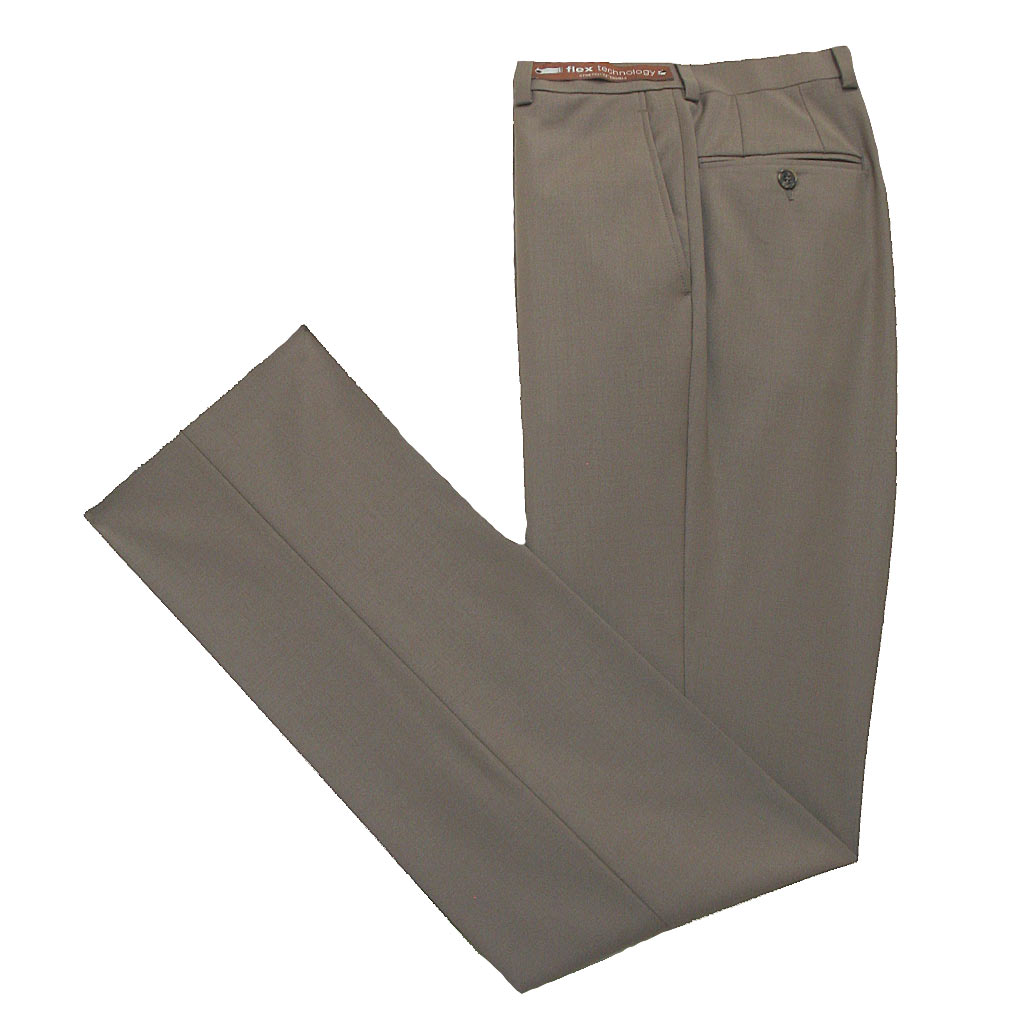 Men's Jack Victor Riviera Traveler Wool Blend Dress Pants Tan