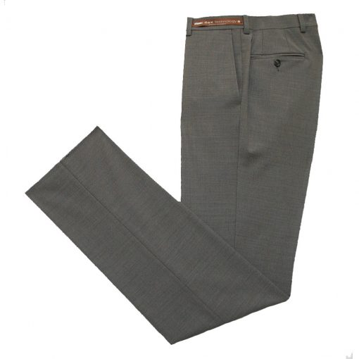 Men's Jack Victor Riviera Traveler Wool Blend Dress Pants Taupe Heather