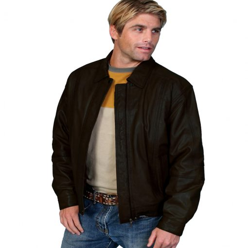 Scully® Men's Premium Lambskin Leather Jacket #978 Black