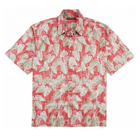 Men's Tori Richard® Cotton Lawn Short Sleeve Shirt, Native Roots #6369 Red