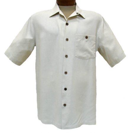 Beyond-Paradise-Short-Sleeve-All-Silk-Basic-Shirt-3005-Linen