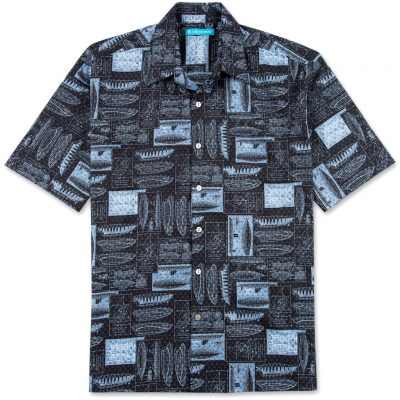 Men's Tori Richard® Cotton Lawn Short Sleeve Shirt Hull of Fame #6894 Black