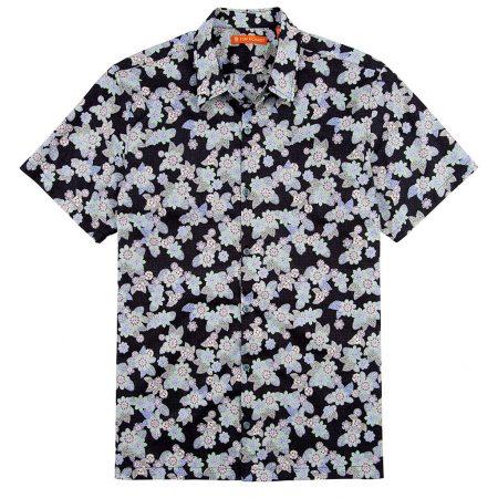 Men's Tori Richard® Cotton Lawn Short Sleeve Shirt, Mosaic #6844 Black