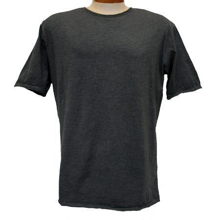 Men's Gionfriddo® Short Sleeve Made In Italy Hand Dyed Cotton Crew Neck Tee #GK517 Charcoal-Black