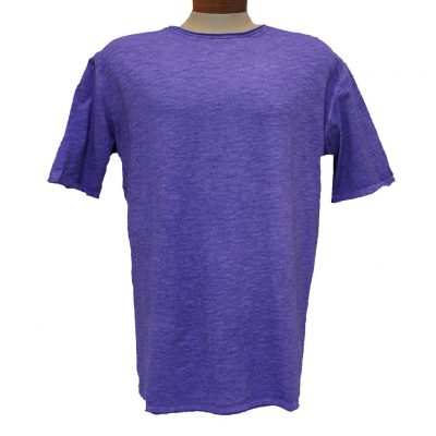 Men's Gionfriddo® Short Sleeve Made In Italy Hand Dyed Cotton Crew Neck Tee #GK517 Lilac
