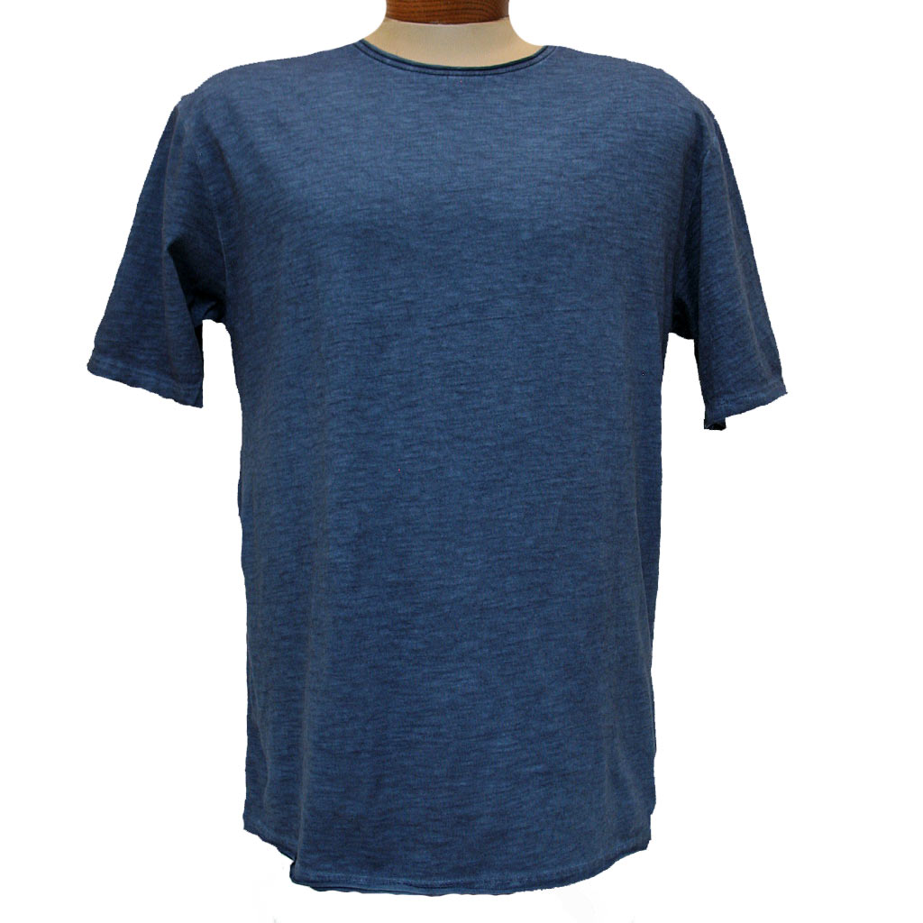 Men's Gionfriddo® Short Sleeve Made In Italy Hand Dyed Cotton Crew Neck Tee #GK517 Navy