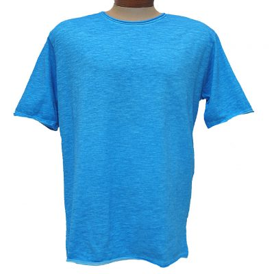 Men's Gionfriddo® Short Sleeve Made In Italy Hand Dyed Cotton Crew Neck Tee #GK517 Roral Blue