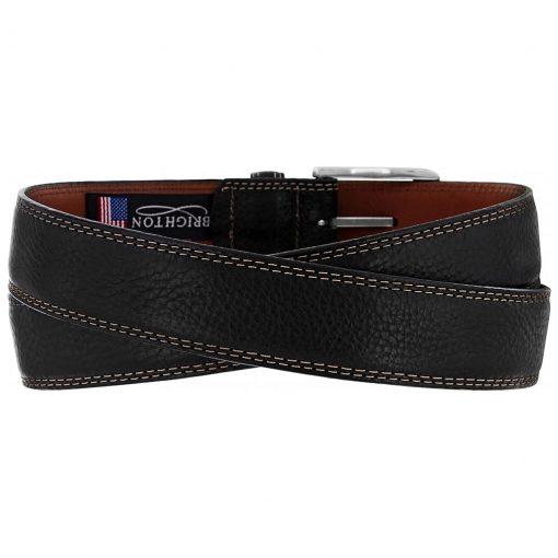 Men's Brighton Ventura Leather Belt, #M10383 Black