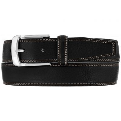 Men's Brighton Ventura Leather Belt, #M10383 Black
