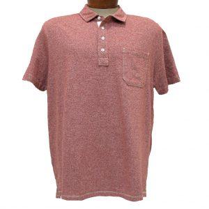 Men's Jeremiah® Short Sleeve 100% Cotton Twist Yarn Jersey Polo Shirt With Pocket, Dixon Barn (M & XL, ONLY!)