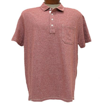 Men's Jeremiah® Short Sleeve 100% Cotton Twist Yarn Jersey Polo Shirt With Pocket, Dixon Barn