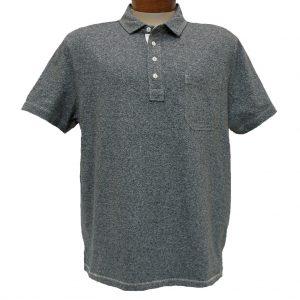 Men's Jeremiah® Short Sleeve 100% Cotton Twist Yarn Jersey Polo Shirt With Pocket, Dixon Black