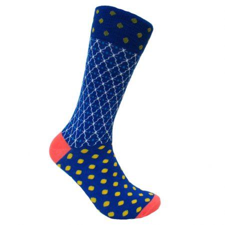 Men's Steven Land® Cotton Blend Fancy Socks #SO1782 Blue