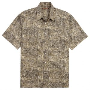 Men's Tori Richard Cotton Lawn Relaxed Fit Short Sleeve Shirt, Sketchbook #6926 Black (SALE ENDS, 11/17/18)