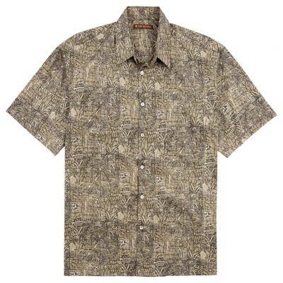 Men's Tori Richard Cotton Lawn Relaxed Fit Short Sleeve Shirt, Sketchbook #6926 Black