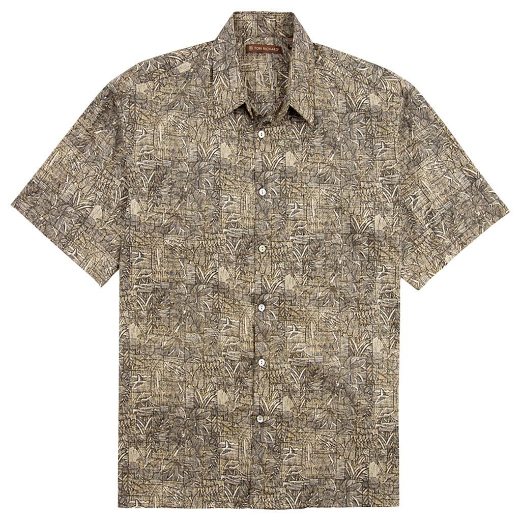 Men's Tori Richard Cotton Lawn Relaxed Fit Short Sleeve Shirt, Sketchbook #6926 Black