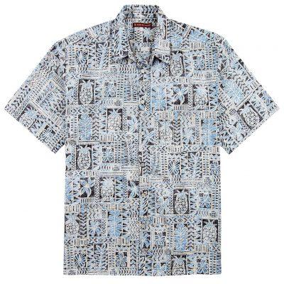 Men's Tori Richard® Cotton Lawn Short Sleeve Shirt, Sweet Life #6385 Black
