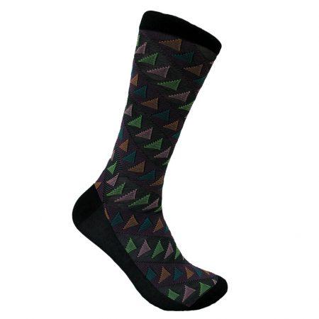 Men's Vannucci® Mercerized Cotton Blend Fancy Socks #V1336 Black