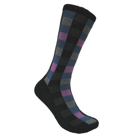 Men's Vannucci® Mercerized Cotton Blend Fancy Socks #V1345 Black