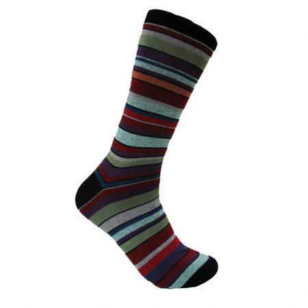 Men's Vannucci® Mercerized Cotton Blend Fancy Socks #V1332 Navy