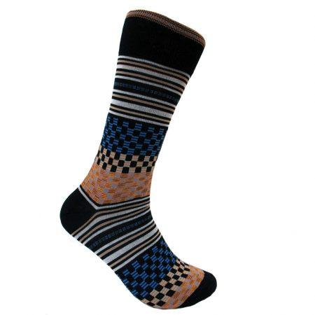 Men's Vannucci Mercerized Cotton Fancy Socks #V1134 Navy