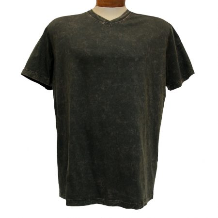 Men's Minerals® Short Sleeve 100% Pima Cotton Mineral Wash V-Neck Tee #1003PJ Earth