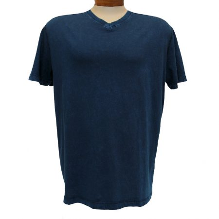 Men's Minerals® Short Sleeve 100% Pima Cotton Mineral Wash V-Neck Tee #1003PJ Sapphire Blue