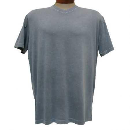 Men's Minerals® Short Sleeve 100% Pima Cotton Mineral Wash V-Neck Tee #1003PJ Silver