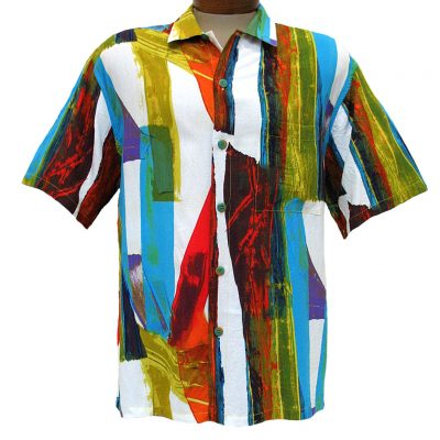 Men's Jams World® Short Sleeve Crushed Rayon Retro Shirt - Vernice