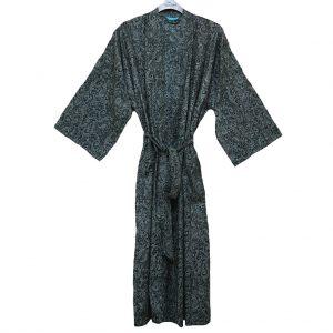 Men's Tori Richard® Cotton Lawn Robe Brad Paisley, #1601-6996 Black