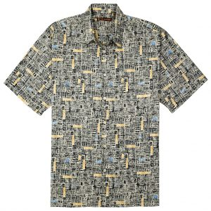 "Men's Tori Richard® Cotton Lawn Short Sleeve Shirt, Jasper #6394 Black ""USE COUPON TR1 WHEN YOU CHECK OUT"""