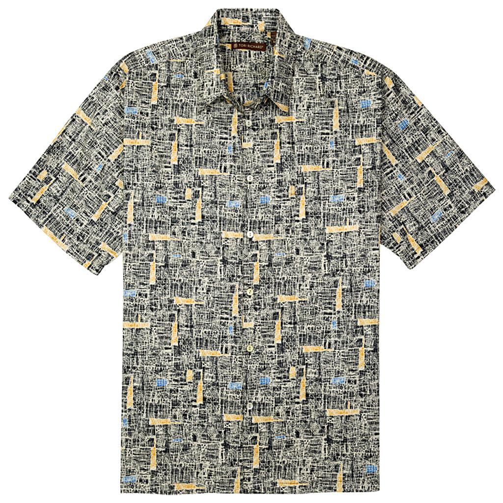 Men's Tori Richard® Cotton Lawn Short Sleeve Shirt, Jasper #6394 Black