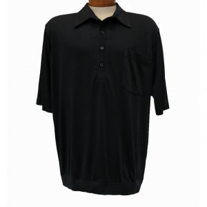 Men's Bassiri® Short Sleeve Knit Banded Bottom Shirt #531 Black (L & XL, ONLY!)