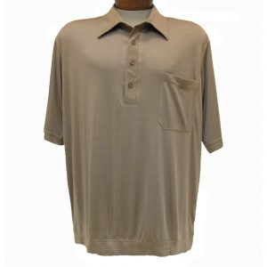 Men's Bassiri® Short Sleeve Knit Banded Bottom Shirt #531 Mocha (L, ONLY!)